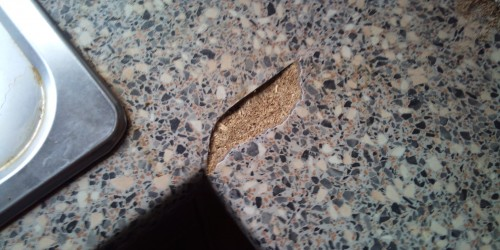 DAMAGED WORKTOP JOINT REPAIRS CHIP SCRATCH DENT CRACK PAN BURN REPAIRS WATER DAMAGE