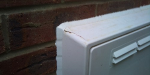 DAMAGED EXTERNAL SILL CHIPPED SCRATCHED DENTED ALL REPAIRED