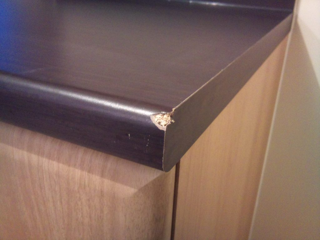 CHIPPED WORKTOP