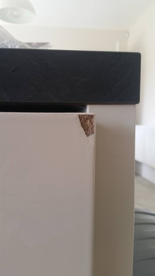 CHIPPED CUPBOARD DOOR REPAIR