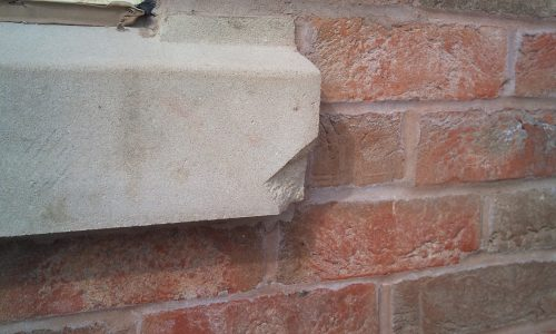STONE SILL CHIP DAMAGE REPAIR ART STONE CRACK REPAIR