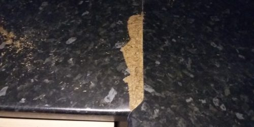 BLOWN WORKTOP JOINT REPAIR