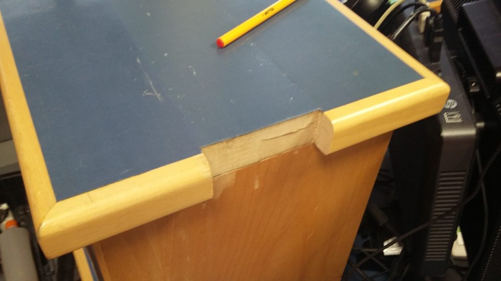 RECEPTION COUNTER EDGING REPAIR