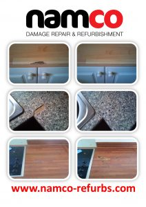 Kitchen Worktop Chip Dent Burn Repair Namco Refurbs