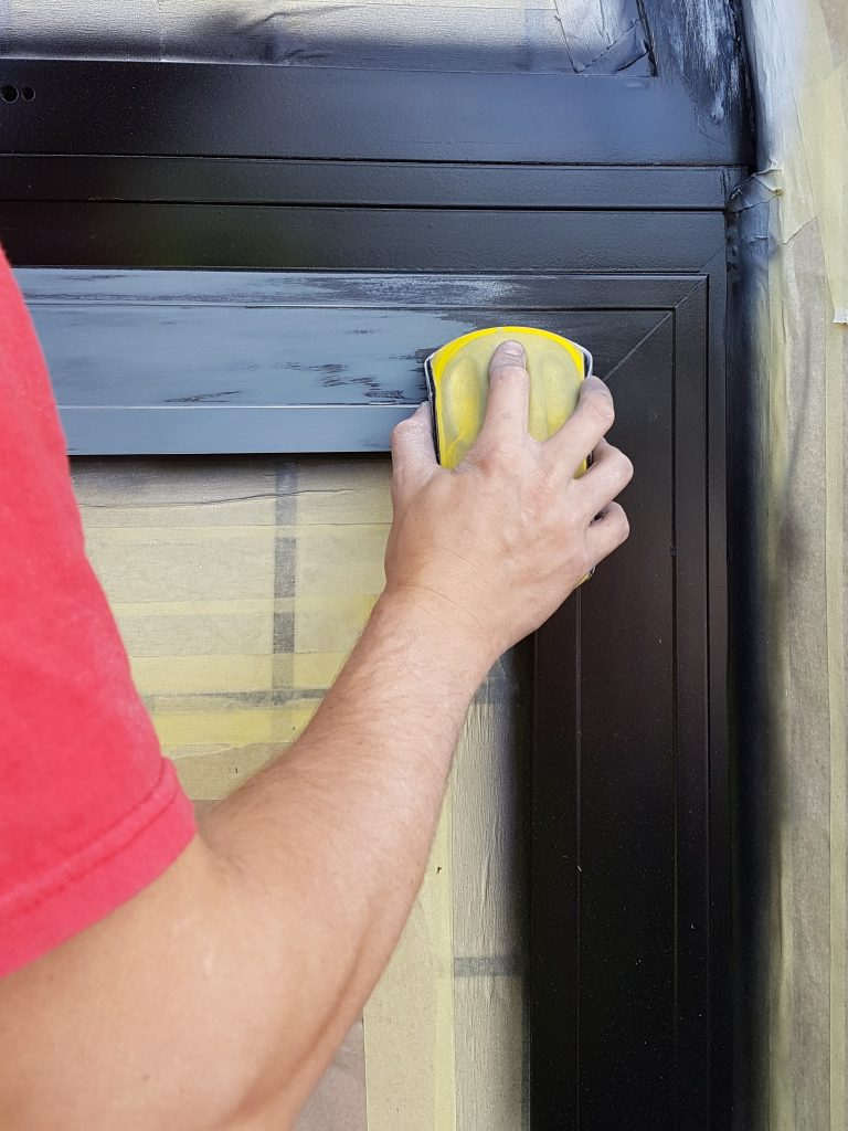 Construction site spraying service namco refurbs - Interior door spray painting service ...
