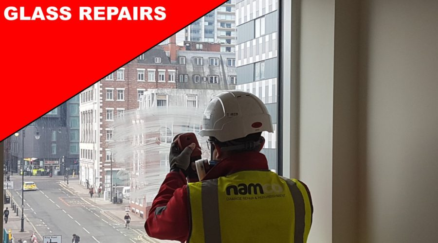 SCRATCHED VANDALISED GRAFFITI CLEANER DAMAGE GLASS REPAIRS