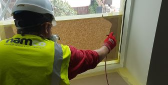 WINDOW FRAME SCRATCH CHIP DENT REPAIR SITE SPRAYING CONSTRUCTION SITE SPRAYING