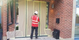 WINDOW FRAME ON SITE CONSTRUCTION SPRAYING REFINISHING COLOUR CHANGE MANCHESTER CHESHIRE LEEDS LIVERPOOL BIRMINGHAM