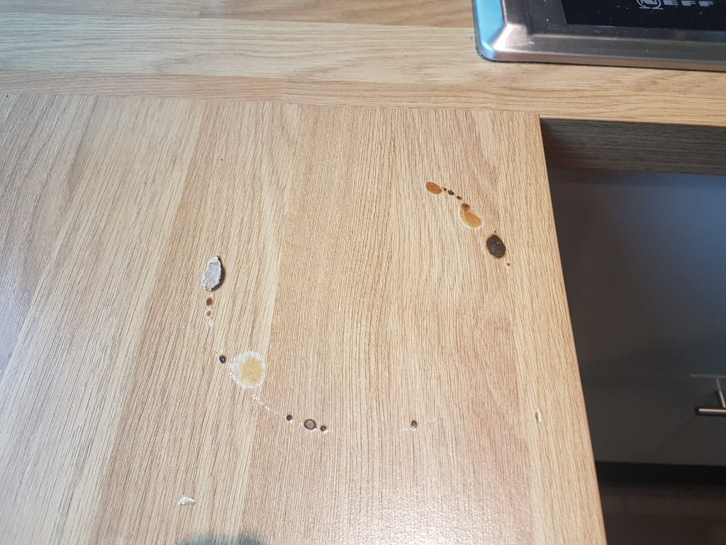WORKTOP CHIP SCRATCH DENT PAN BURN REPAIR