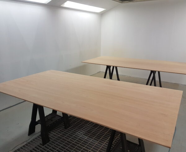 BOARD ROOM TABLE REFURBISHMENT STRIP DOWN REFINISH FRENCH POLISHING SCRATCH CHIP DENT REPAIR SPRAY BOOTH AFTER (2)