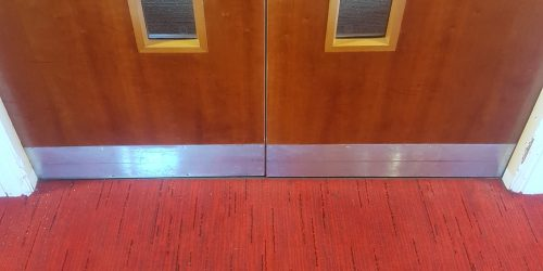 SCRATCHED DAMAGED CHIP DENT EXECUTIVE LOUNGE DOOR REFURB REPAIRS FRENCH POLISHING AFTER
