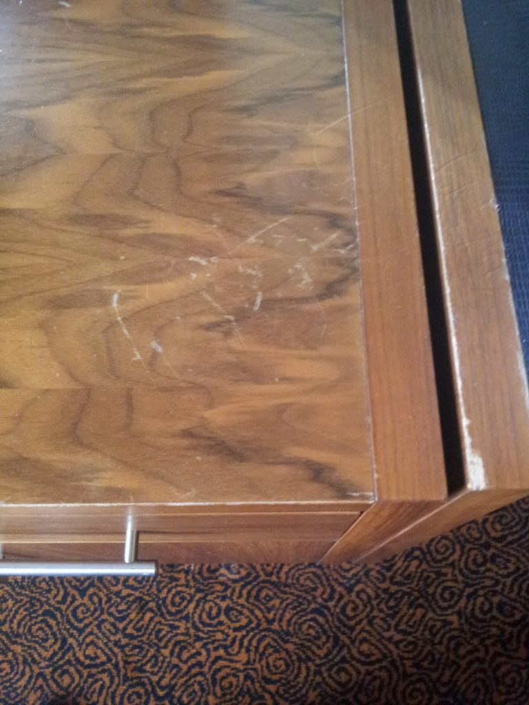 SCRATCHED BEDROOM FURNITURE REPAIRS CHIP BURN WATER DAMAGE