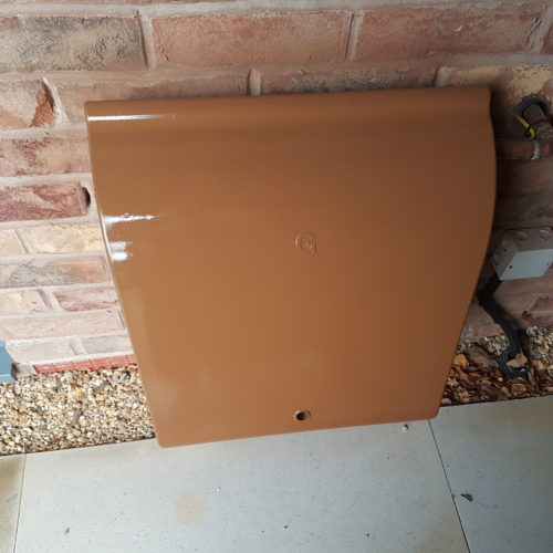 GAS METER BOX BRICK ACID STAIN REPAIR AFTER