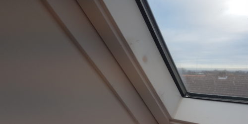 SCRATCH CHIP DENT TO VELUX WINDOW REPAIR BEFORE