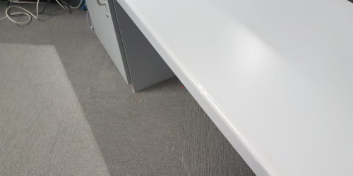 RECEPTION COUNTER CHIP SCRATCH DENT DAMAGE REPAIR 2