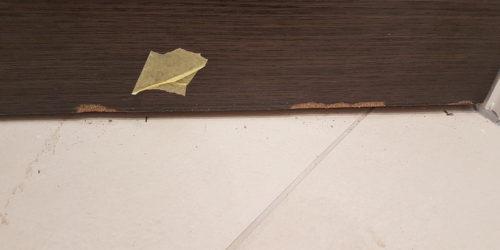 VENEER LAMINATED DOOR CHIP SCRATCH DENT REPAIR FRENCHPOLISHER