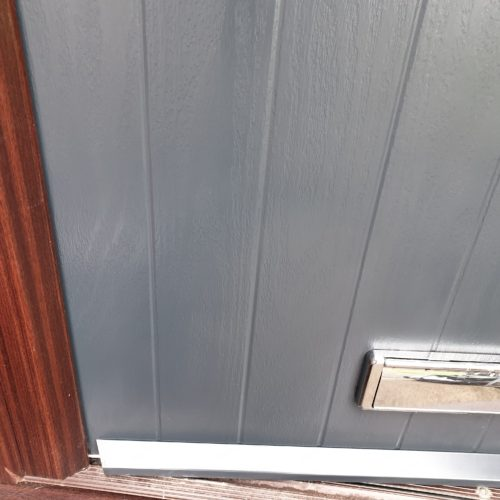 GREY COMPOSITE DOOR SCRATCH REPAIR MANCHESTER AFTER