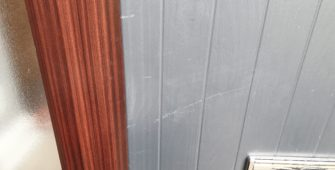 GREY COMPOSITE DOOR SCRATCH REPAIR MANCHESTER BEFORE