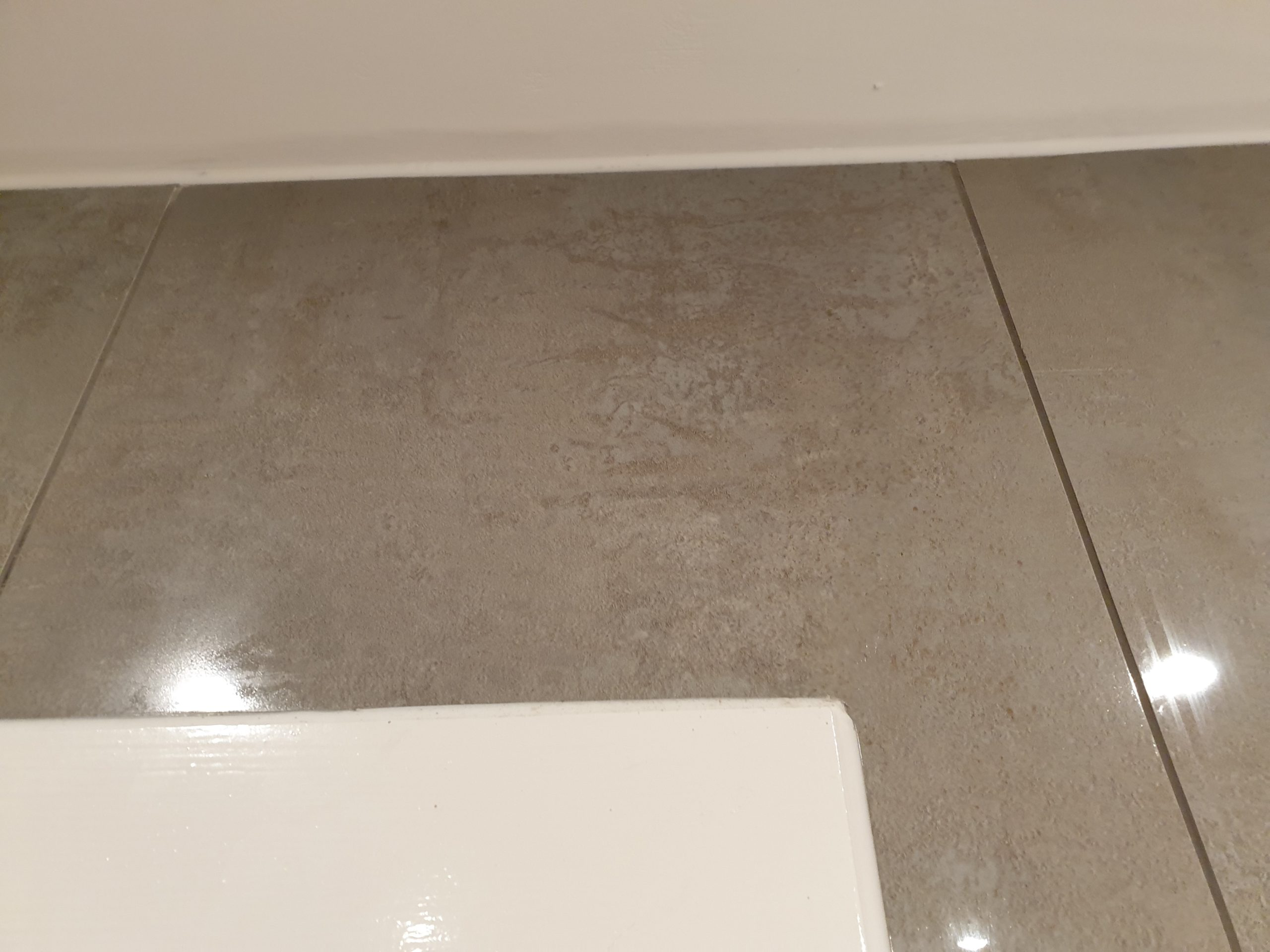 CRACKED BATHROOM WALL FLOOR TILE REPAIR AFTER