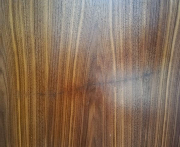 BADLY SCRATCHED VENEER DOOR FRENCH POLISHING REPAIR BEFORE