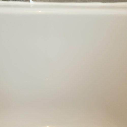 CRACKED PLASTIC BATH REPAIR AFTER