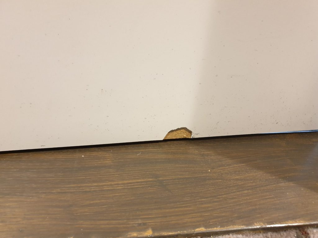 DAMAGED HOTEL LAMINATE DOOR CHIP REPAIR 1