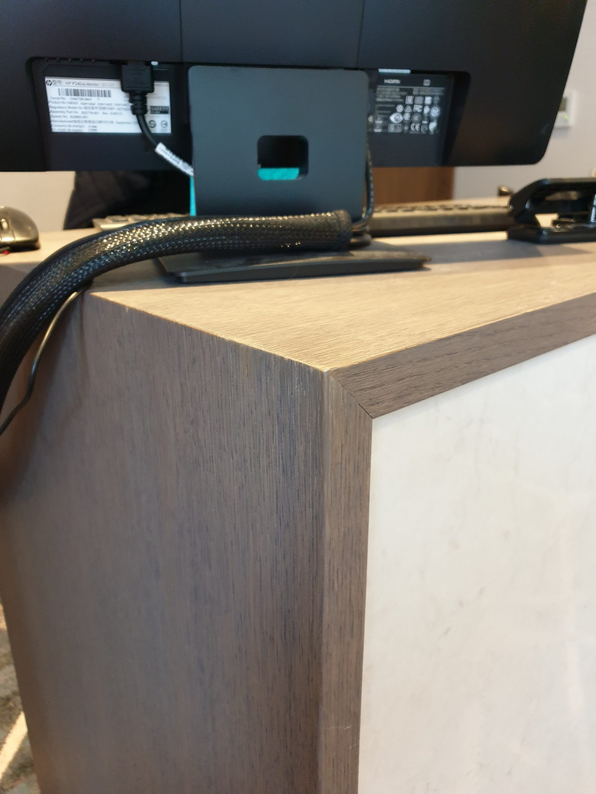 HOTEL RECEPTION COUNTER CHIP SCRATCH REPAIR AFTER