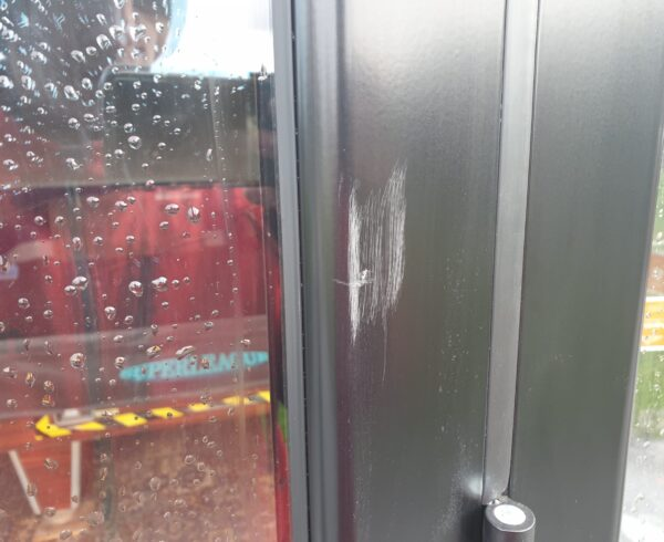 BADLY SCRATCHED BI FOLD DOOR FRAME REPAIRS BEFORE 1
