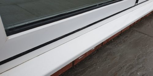 BADLY STAINED POWDER COATED WINDOW FRAME REPAIR AFTER