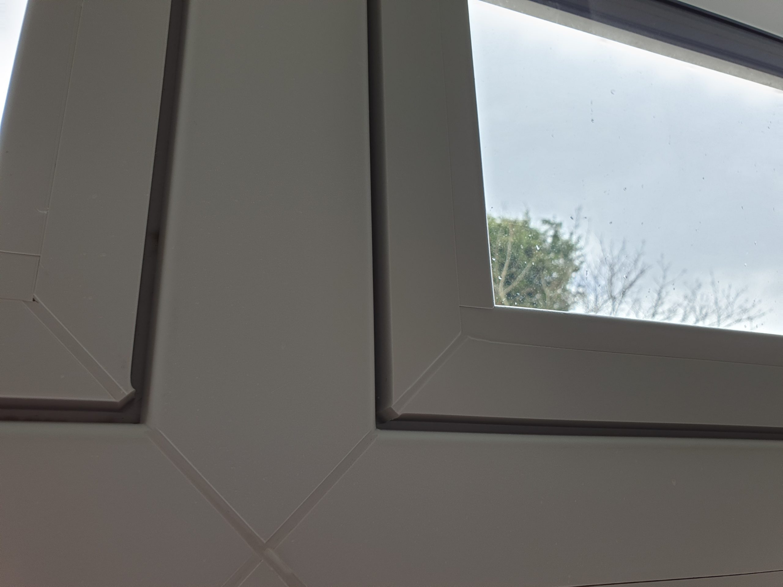 CRACKED UPVC PLASTIC WINDOW FRAME JOINT REPAIR AFTER