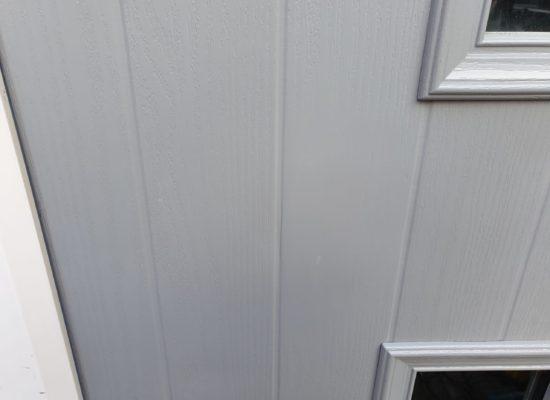 DENT ON COMPOSITE DOOR SCRACTH CHIP REPAIR AFTER