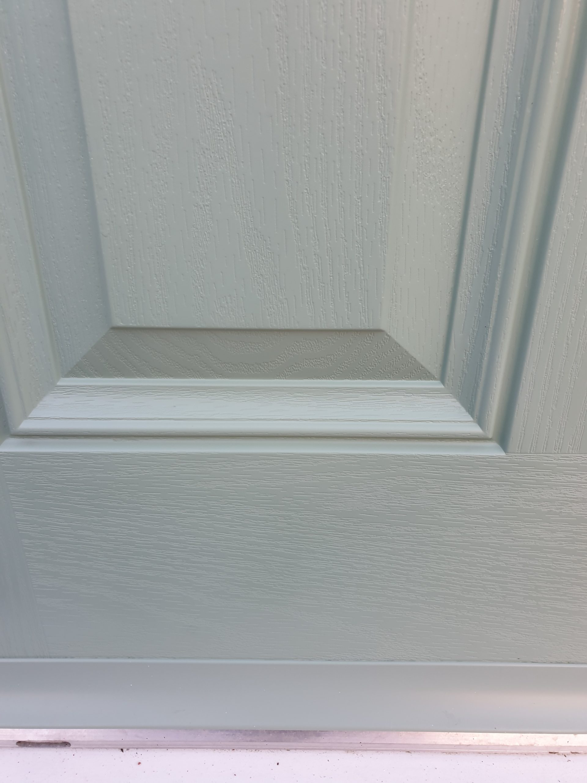 STAIN ON COMPOSITE DOOR SCRATCH CHIP REPAIR AFTER 2