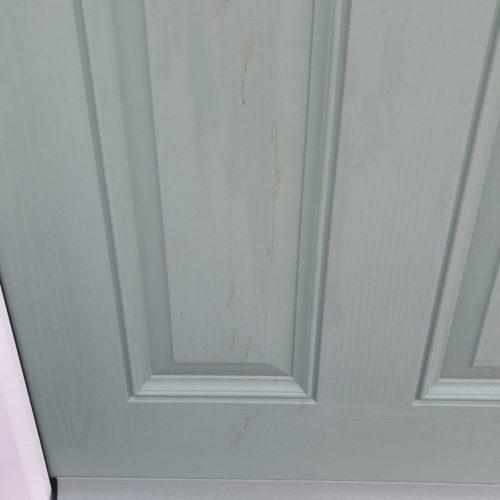 STAIN ON COMPOSITE DOOR SCRATCH CHIP REPAIR BEFORE 1