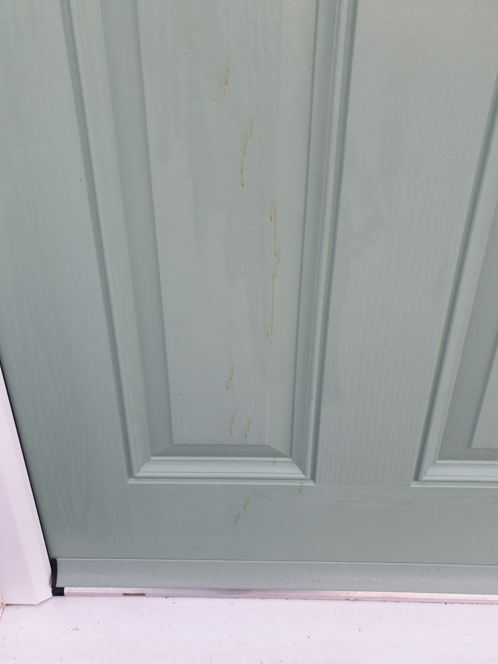 STAIN ON COMPOSITE DOOR SCRATCH CHIP REPAIR BEFORE 1
