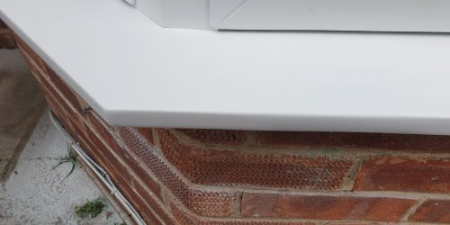 BADLY DAMAGED UPVC PLASTIC SILL REPAIR CRACK CHIP SCRATCH AFTER