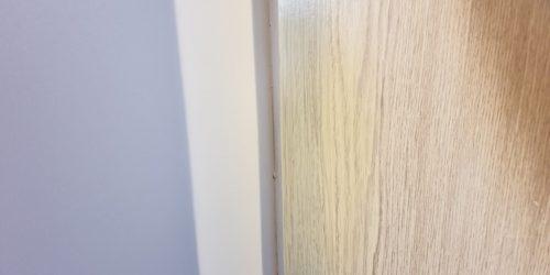 DAMAGED LAMINATE FOIL WRAP DOOR REPAIR AFTER