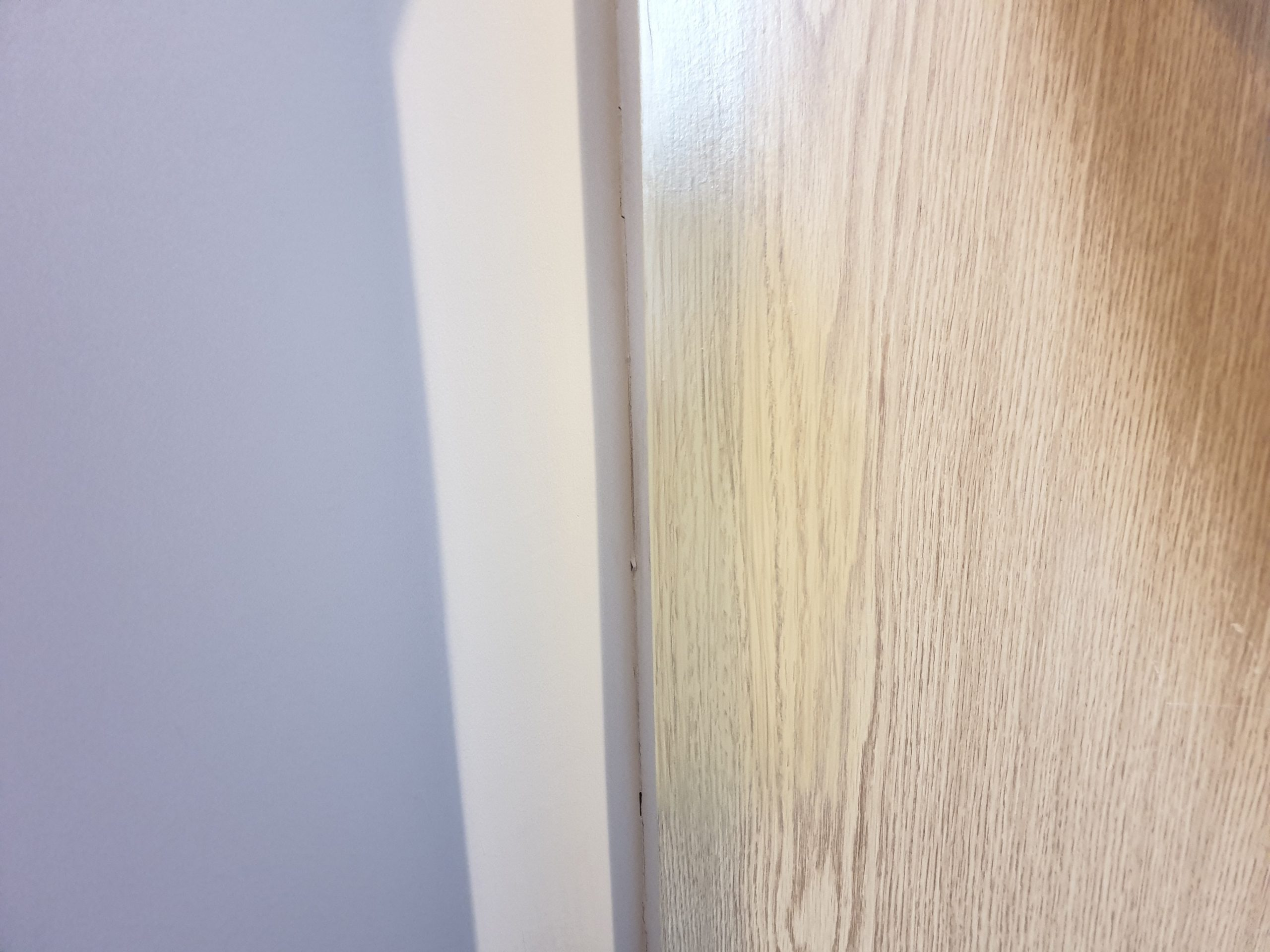 DAMAGED LAMINATE FOIL WRAP DOOR REPAIR AFTER