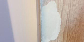 DAMAGED LAMINATE FOIL WRAP DOOR REPAIR BEFORE