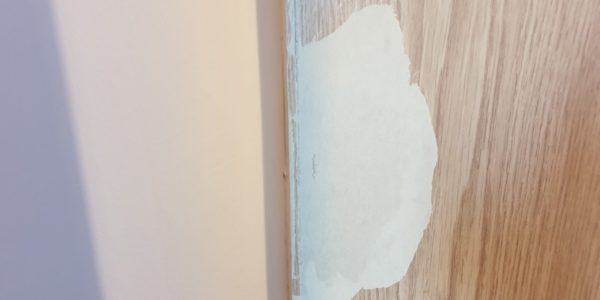 DAMAGED LAMINATE FOIL WRAP DOOR REPAIR BEFORE