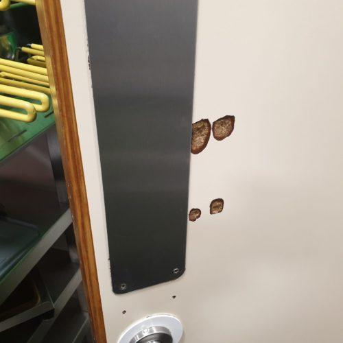 LAMINATE DOOR CHIP REPAIR BEFORE