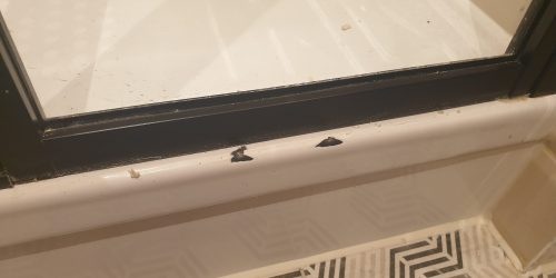 SHOWER TRAY CHIP CRACK REPAIR MANCHESTER BEFORE