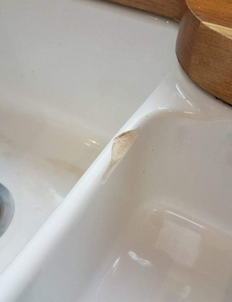 BELFAST SINK CHIP CRACK REPAIR MANCHESTER BEFORE