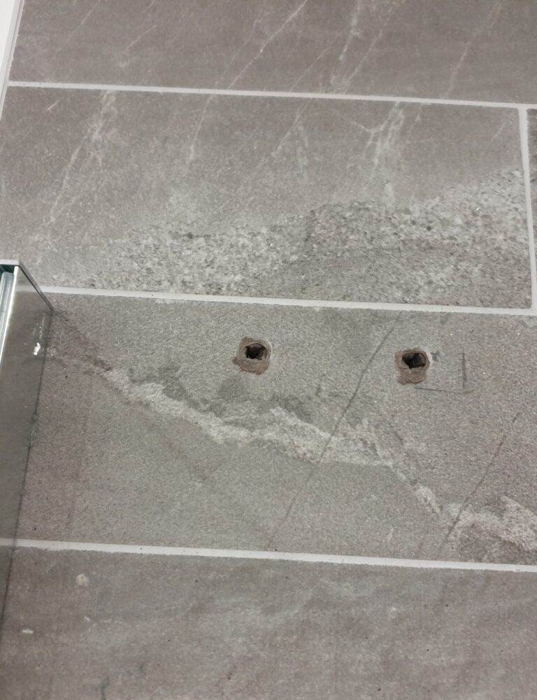 SCREW HOLE BATHROOM TILE REPAIR SHOWER SCREEN BEFORE MANCHESTER