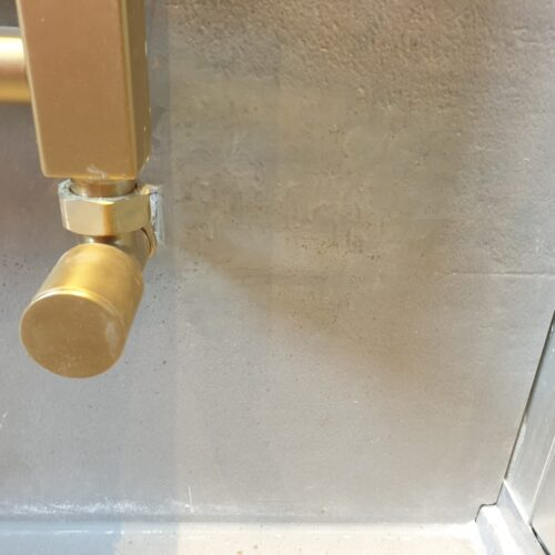 BATHROOM FLOOR WALL TILE DAMAGE CHIP CRACK SCREW HOLE REPAIR MANCHESTER AFTER