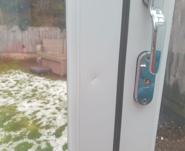 BI FOLD BI FOLDING DOOR KEY SCRATCH DENT DAMAGE REPAIR MANCHESTER BEFORE