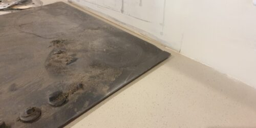 BADLY DAMAGED KITCHEN WORKTOP PAN BURN AFTER