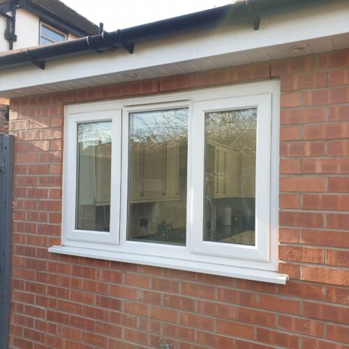 UPVC PLASTIC WINDOW DOOR FRAME SPRAYING MANCHESTER BEFORE