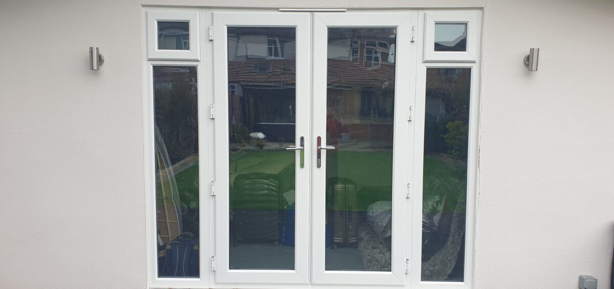 UPVC PLASTIC WINDOW FRAME SPRAY PAINTING COLOUR CHANGE BEFORE