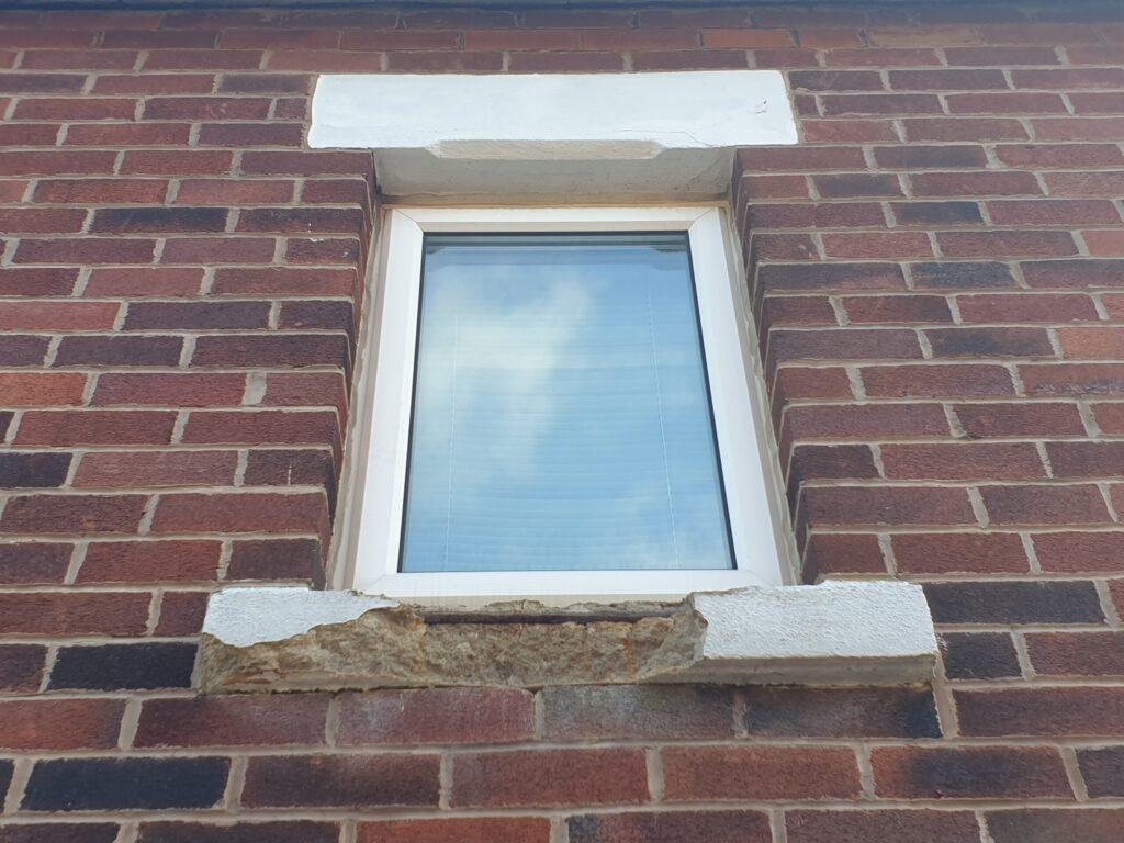 BROKEN STONE CONCRETE WINDOW SILLCILL REPAIR REFURBISHMENT AFTER