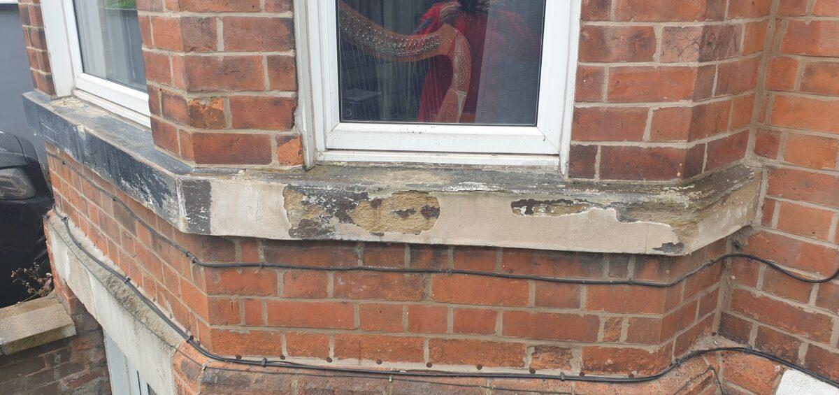 CONCRETE WINDOW SILL REFURBISHMENT SAND STONE WINDOW SILL REFURBISHMENT